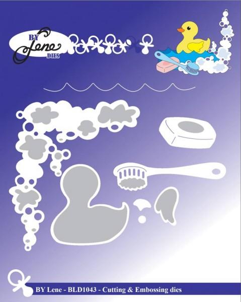 Baby Duck in Shower -Stanzschablone by Lene Dies (BLD1043)