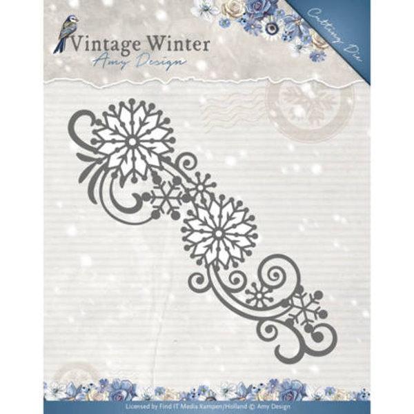 Snowflake Swirl Border - Stanzschablone