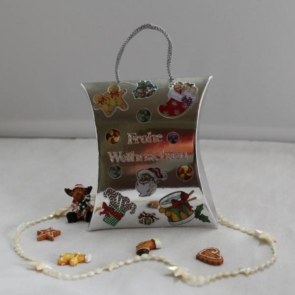 Geschenkbox zum Weihnachtsfest - Kissenform / Pillowbox