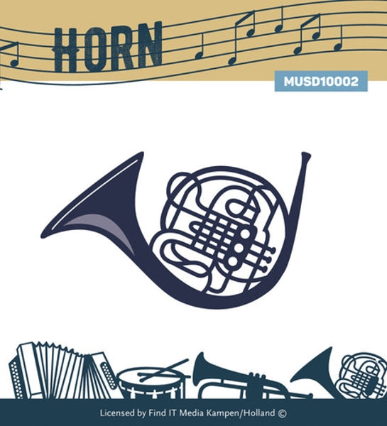 Stanzschablone - Horn (Musikinstrument)
