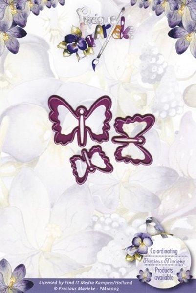 Stanzschablone - 3 kleine Schmetterlinge