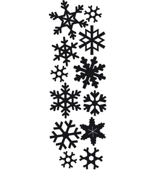 Schneeflocken / snowflakes - Stanzschablone