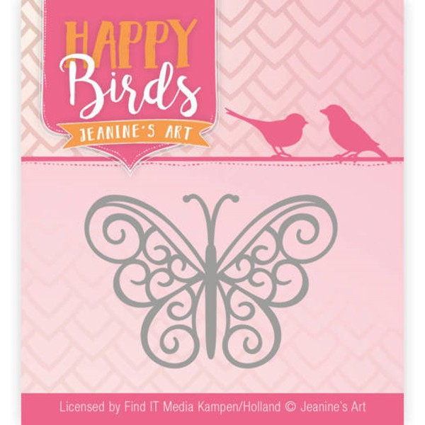 filigraner Schmetterling - Happy Birds Collection - Stanzschablone