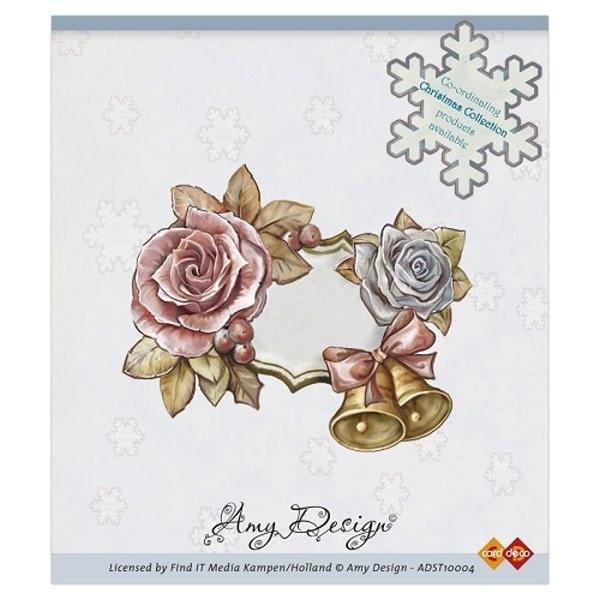 Rosen und Weihnachtsglocken - Stempel / Clingstamp