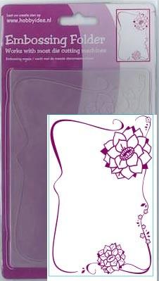 Blumenornamente 2 - Prägeschablone / Embossing Folder