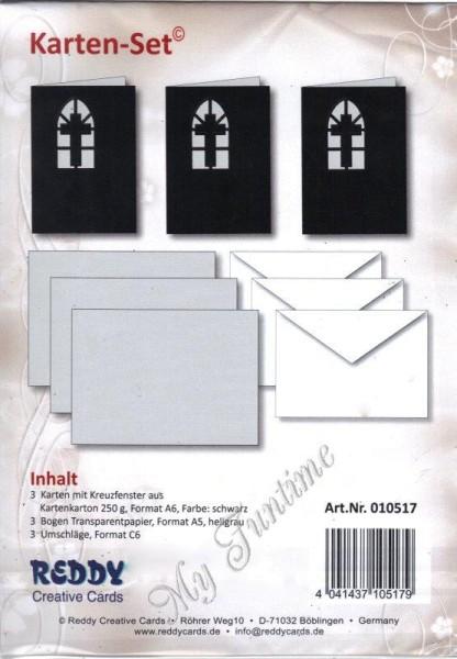 Karten-Set für religiöse Anlässe / Kondolenz / Trauer