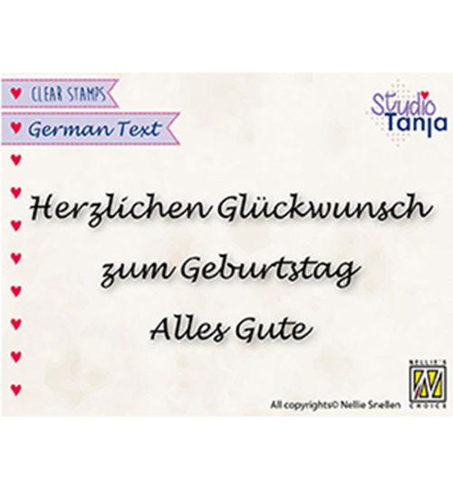 Herzlichen Glückwunsch ... - Clear Stamp / Stempelplatte von Nellies Choice by Studio Tanja (GTCS002