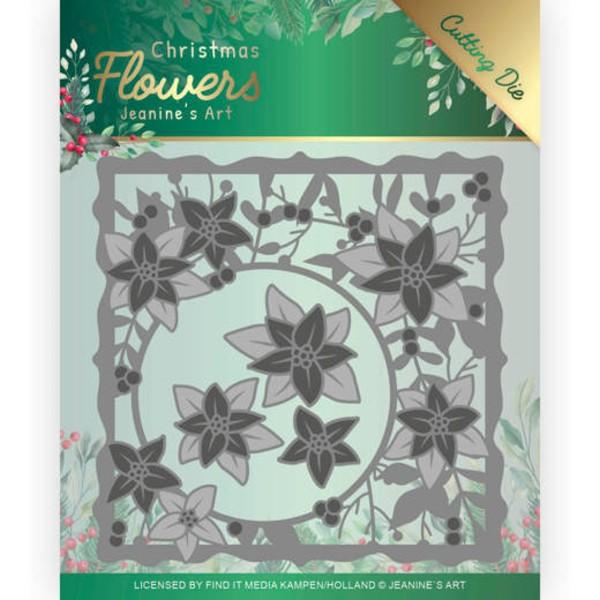 Weihnachtstern - Rahmen / Poinsettia Frame - Stanzschablone