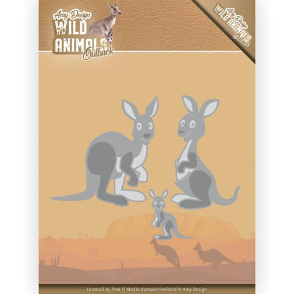 Kangaroo / Känguru - Wild Animals Outback - Stanzschablone