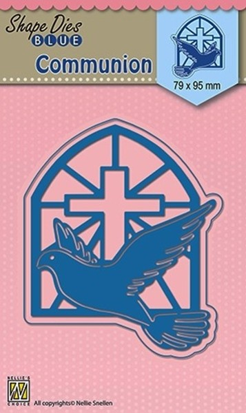 Communion / Kommunion - Stanzschablone - Shape Dies Blue