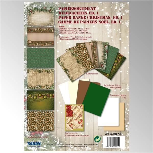 Papiersortiment Weihnachten Edition I - von Reddy Creative Cards