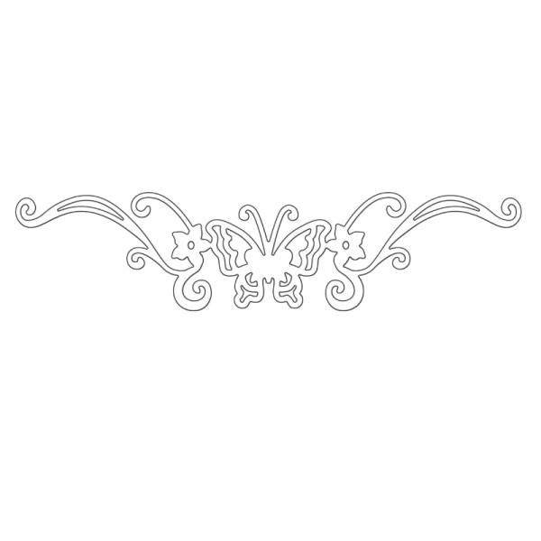 Butterfly Border - Stanzschablonen