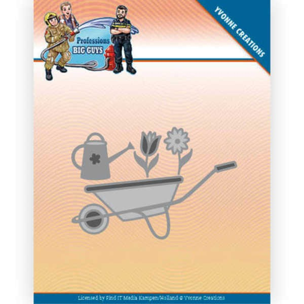 Wheelbarrow / Schubkarre - Big Guys - Professions Collection von Yvonne Creations (YCD10241)