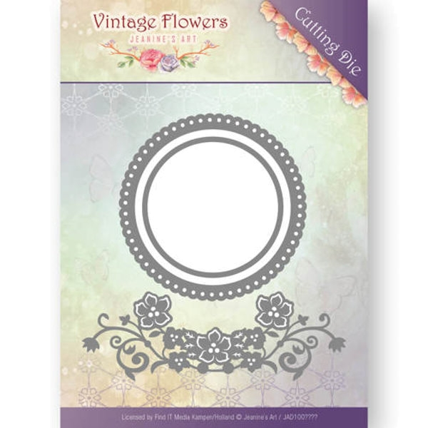 Flowers and Circles - Vintage Flowers Collection - Stanzschablone