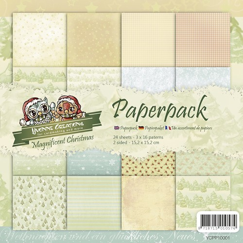 Magnificent Christmas - Motivpapier-Set / Scrapbook - Yvonne Creations