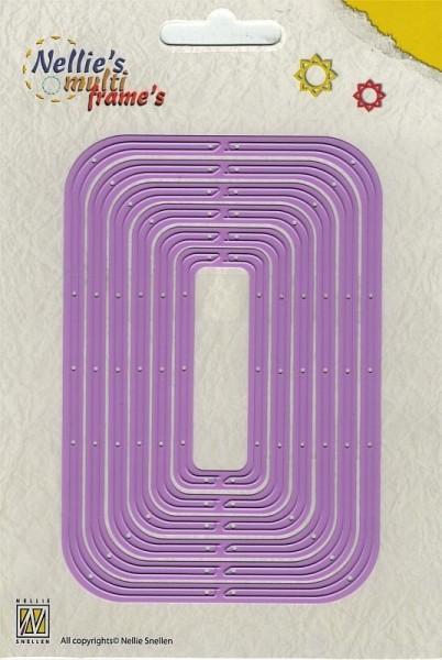 revolving rectangle/ rotierendes Rechteck - Stanzschablone
