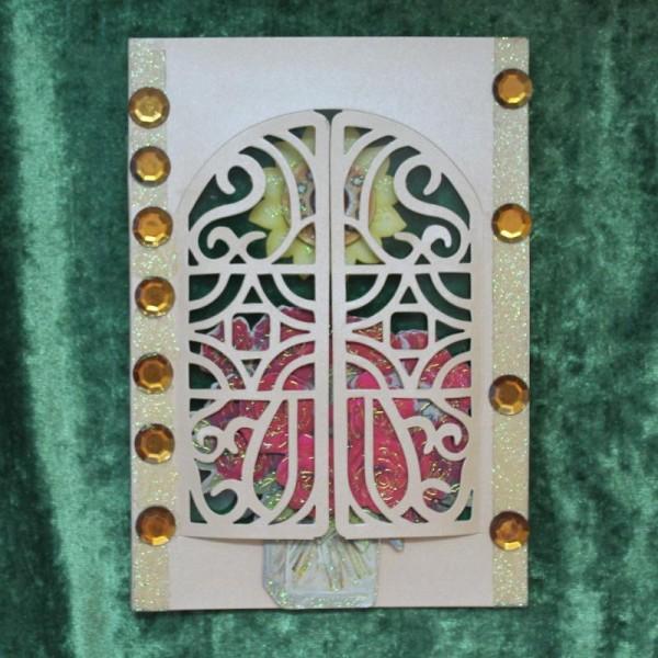 Fenster-Grusskarte für versch. Anlässe