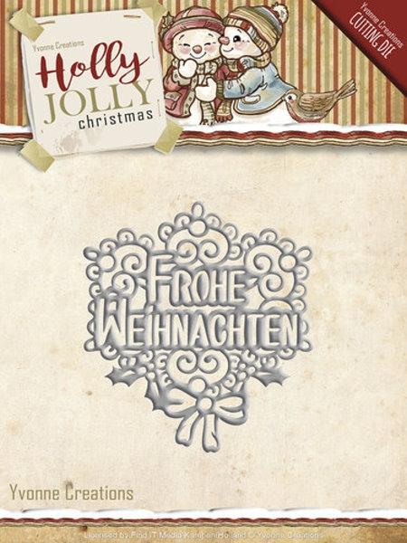 Frohe Weihnachten - Stanzschablone / Textschablone