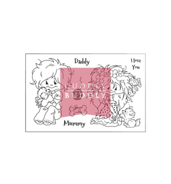 Stempel - Clearstamp - Little Poppets Pets