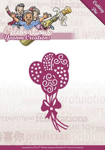 Ballons - Stanzschablone