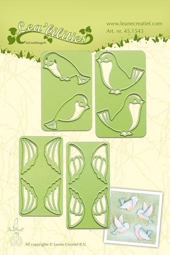 kleine Vögel - Stanz- & Prägeschablone
