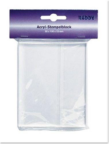 Acryl - Stempelblock 80 x 100 x 10 mm