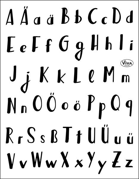 Lettering Alphabet - Stempel - Clearstamp