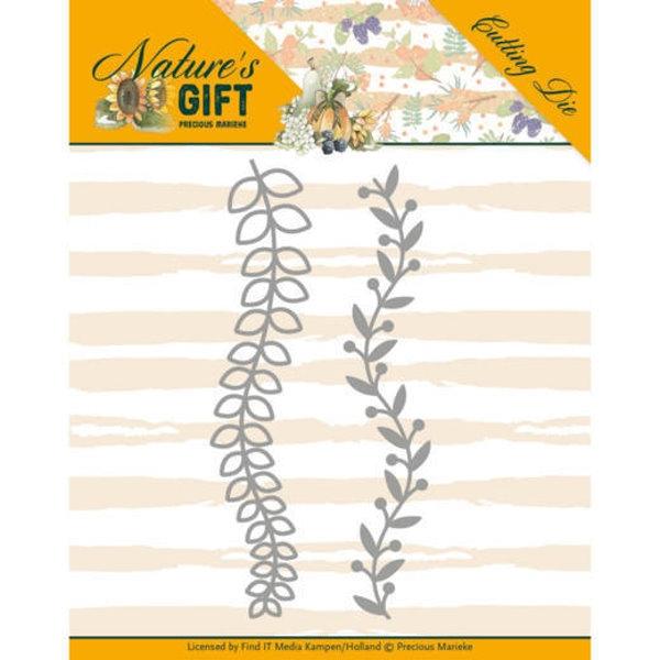 Leaves Border / Blumenranken- Nature´s Gift - Stanzschablone