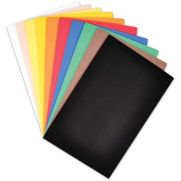 Moosipren - Moosgummiplatten - 2 mm / 10 Stück - farblich sortiert