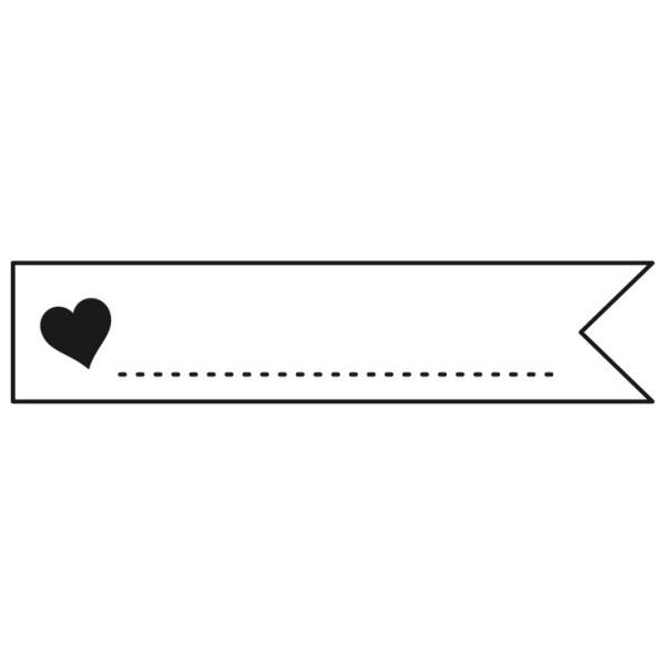 Fähnchen-Design / Label - zum selber beschriften - montierter Holz-Stempel