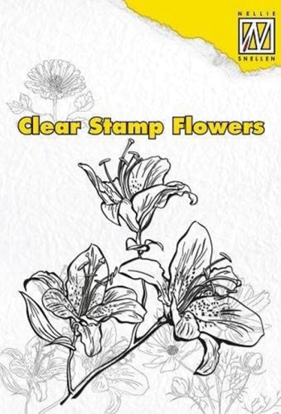 """Lily"" (Lilie) - Stempel - Clearstamp"