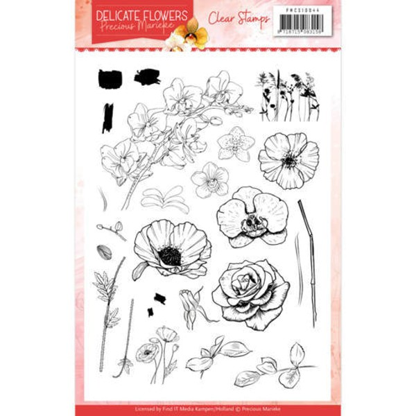 Delicate Flowers - Clearstamp / Stempel