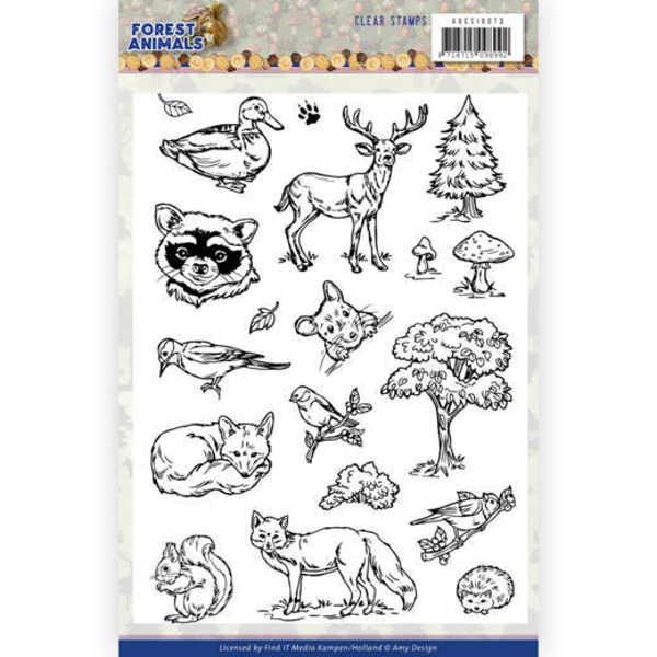 Forest Animals - Clearstamp / Stempel von Amy Design (ADCS10073)