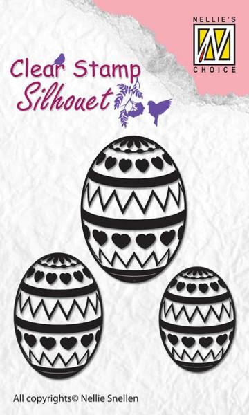 Easter Eggs / Ostereier - Stempel / Clearstamp