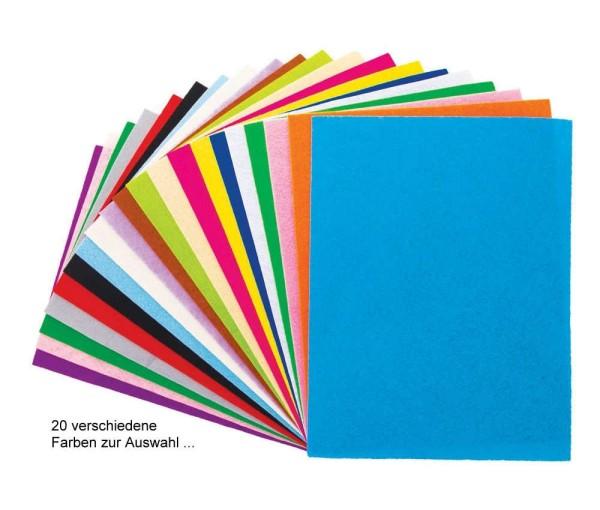Bastelfilz, Platten 20x30 cm / 2 mm dick - 20 versch. Farben von Meyco