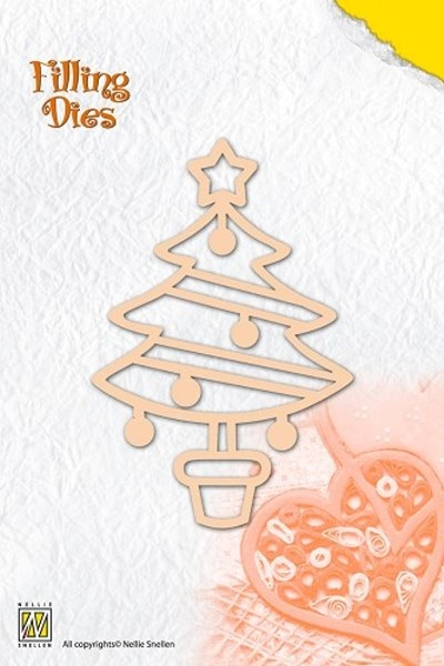 Weihnachtsbaum - Stanzschablone