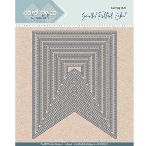 Bullet fishtail label - Nesting Dies von Card Deco (CDECD0093)