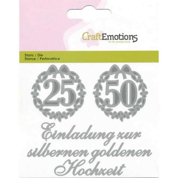 Einladung 25 / 50 - Textschablone von CraftEmotions (115633/0410)