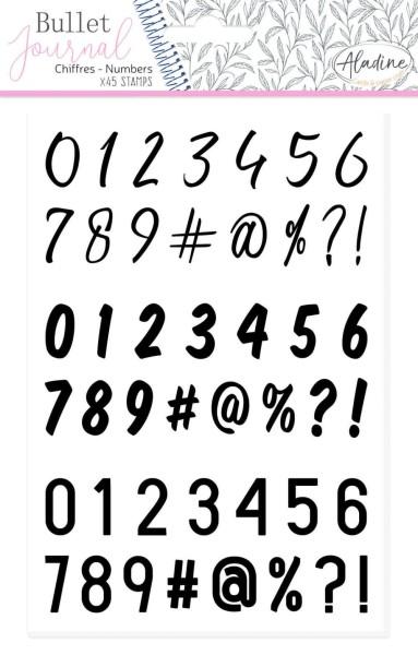 Numbers / Nummern / Zahlen - Stempel / Foamstamp
