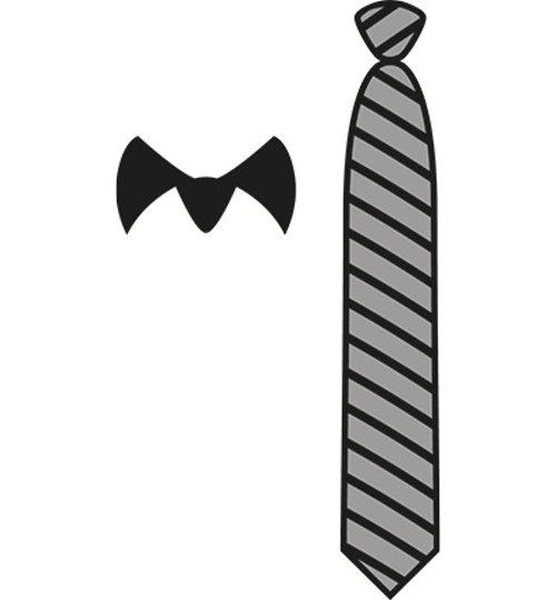 Krawatte und Kragen - Stanzschablone