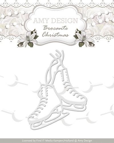 Stanz- und Prägeschablonen - Schlittschuhe von Amy Design