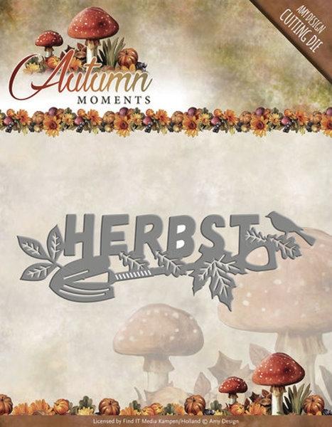 Schriftzug: Herbst - Herbstmomente - Stanzschablone