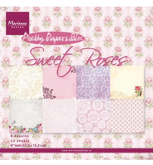 Motivpapier-Set / Scrapbook - Sweet Roses