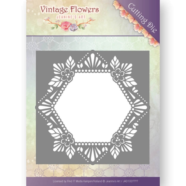 Floral Hexagon - Vintage Flowers Collection - Stanzschablone