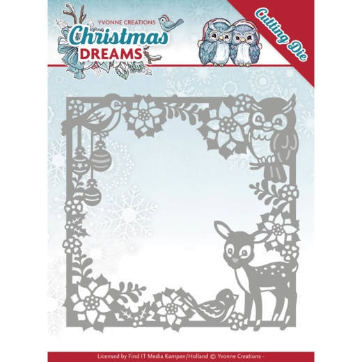 Christmas Animal Frame - Stanzschablone