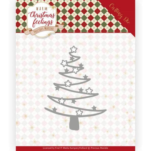 Star Tree / Weihnachtsbaum mit Sternen (Swirl) - Stanzschablone