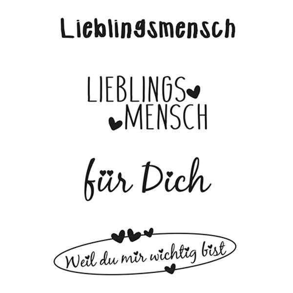 Lieblingsmensch - Stempel / Clearstamp