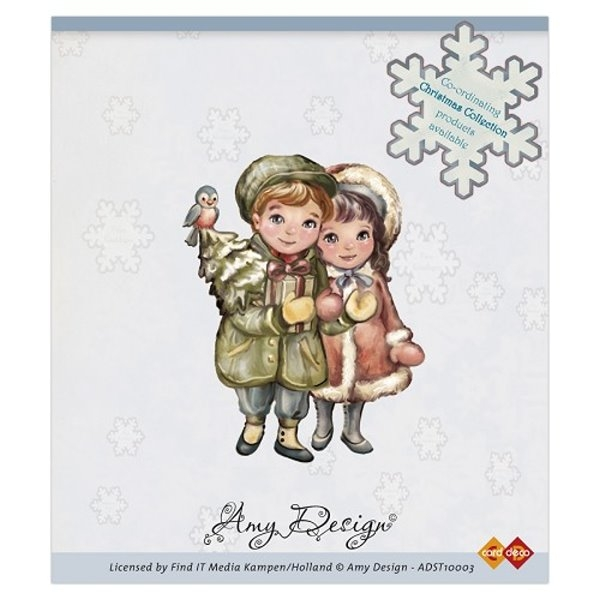 Christmas Couple - Stempel / Clingstamp