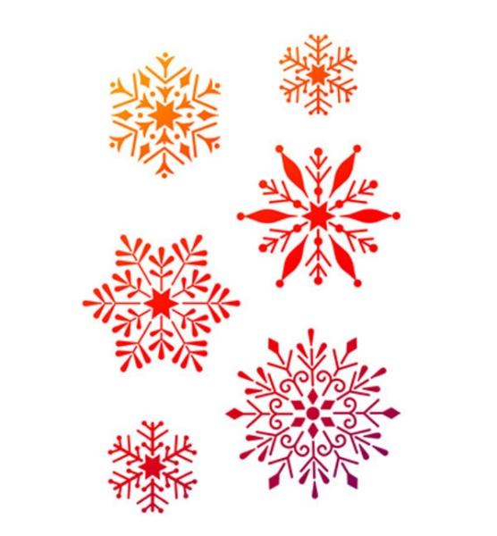 Universal-Schablone - Schneeflocken