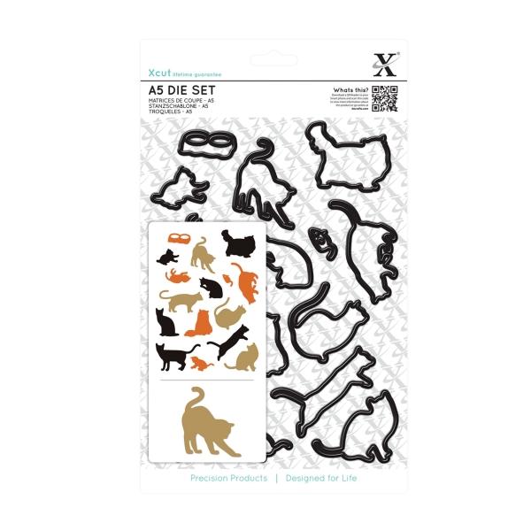 Katzen - Stanzschablone - DIN A5